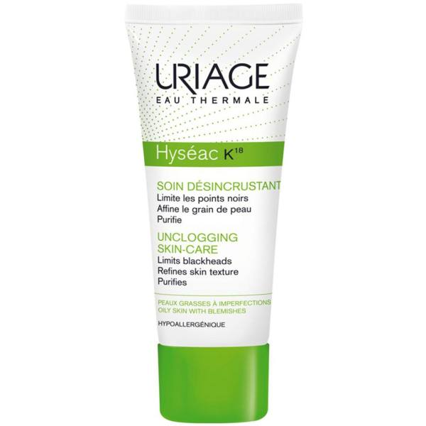 امولسیون لایه بردار اوریاژ سری Hyseac مدل K18 حجم ۴۰ میلی لیتر Uriage Hyseac K18 Peeling Cream 40ml