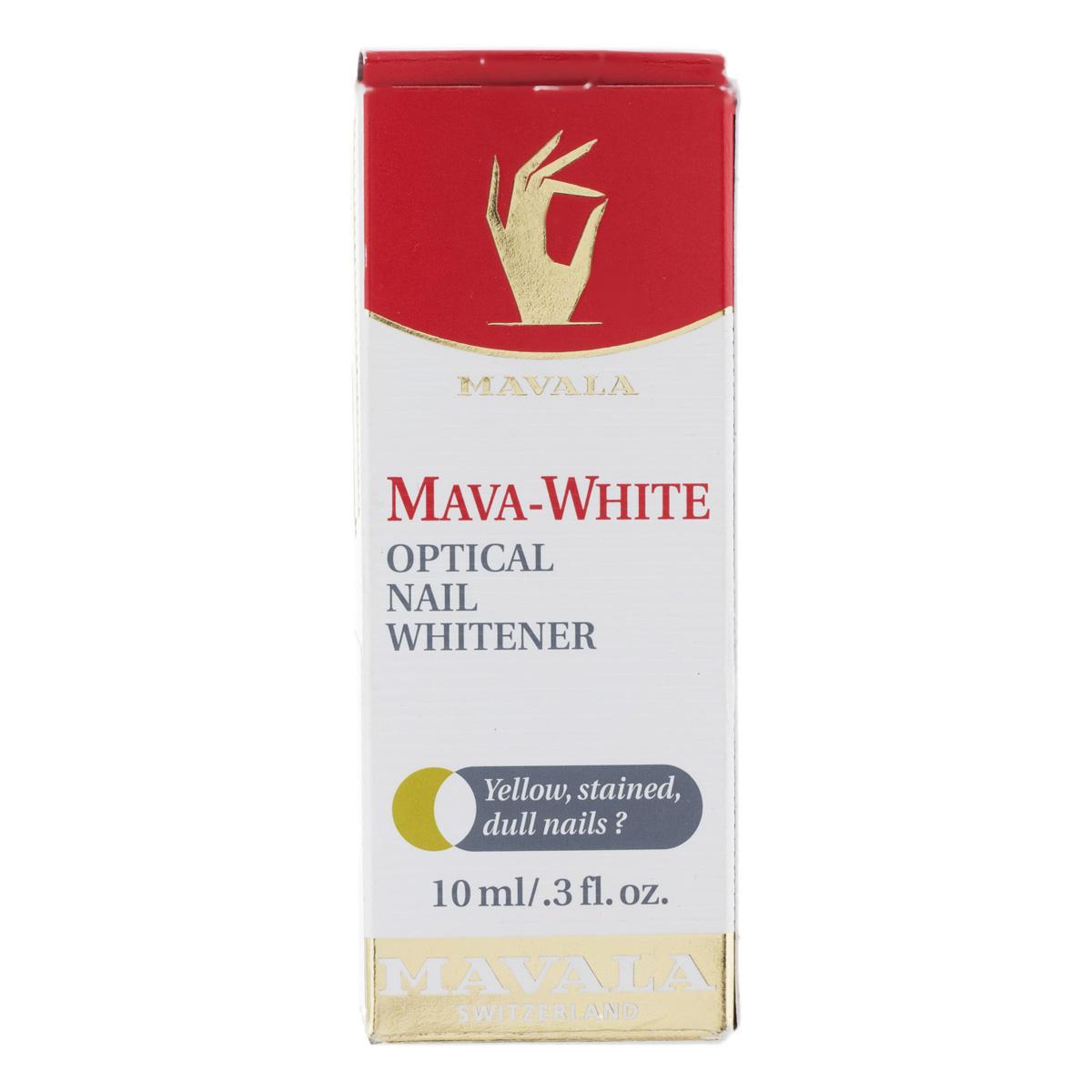 محلول بهبود دهنده رنگ ناخن ماوالا مدل وایت