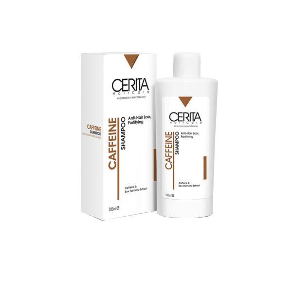 شامپو تقویت کننده و ضد ریزش کافئین سریتا برای انواع مو ۲۰۰ میلی لیتر