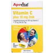 کپسول ویتامین سی پلاس ۱۰ میلی گرم زینک آپوویتال