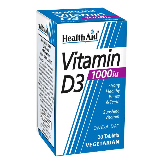 قرص ویتامین د ۱۰۰۰ واحد - هلث اید