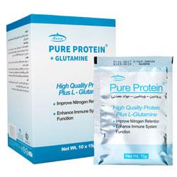 پیور پروتئین و گلوتامین ۱۰ عدد ( شکلاتی )